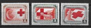 Guatemala 360-62 Red Cross set MNH