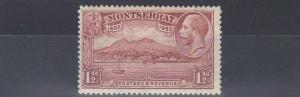MONTSERRAT  1932  S G 86  1 1/2D  RED BROWN    MH