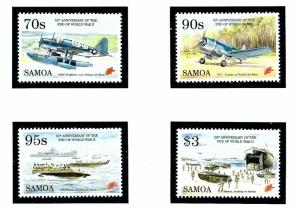 Samoa 890-93 MNH 1995 End of WWII Anniversary