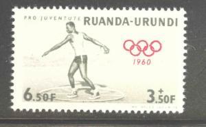 Ruanda-Urundi  Scott B30 MNH** Semipostal 1960 Olympics