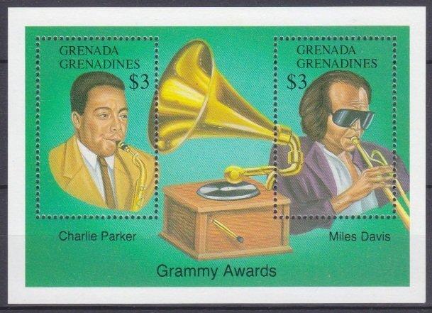 1992 Grenada Grenadines 1621-22/B254 Musicians Charlie Parker and Miles Davis