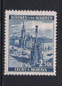 Bohemia & Moravia Sc 34 Town Square Olomouc MNH