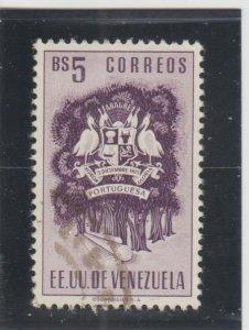 Venezuela  Scott#  589  Used  (1954 Arms of Portuguesa)