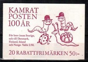 Sweden Scott 1952a Mint NH booklet (Catalog Value $25.00)