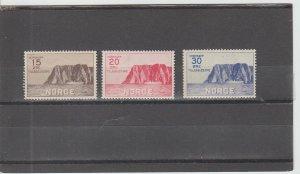 Norway  Scott#  B1-B3  MH  (1930 North Cape)