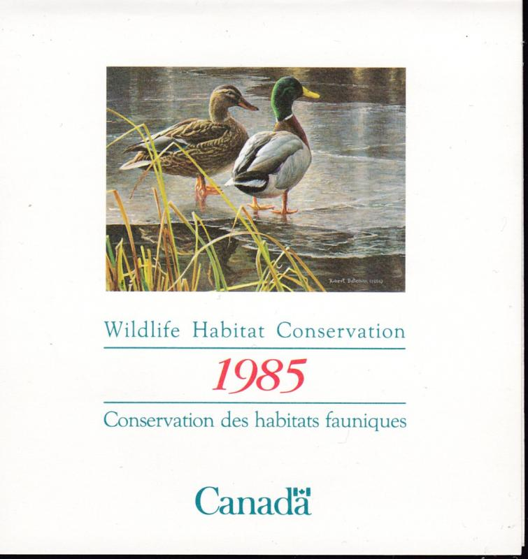 Canada 1985 Wildlife Habitat Conservation Stamp in Booklet Form  VF/NH