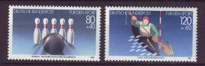 J24580 JLstamps 1985 germany set mnh #b628-9 sports with bowling