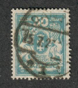 Danzig Mi#139 Used/VF, Expertized Cert., C.v. 200 euro