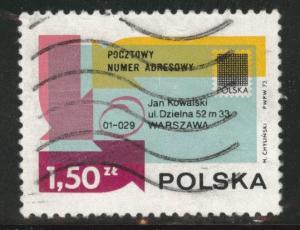 Poland Scott 1970 Used CTO 1973 Flavor caneled stamp