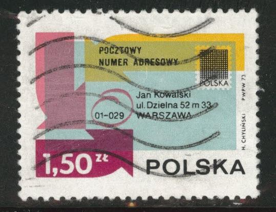 Poland Scott 1970 Used CTO 1973 Flavor caneled stamp