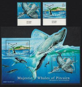 Pitcairn Humpback Whale 2v margins + MS SG#721-MS723