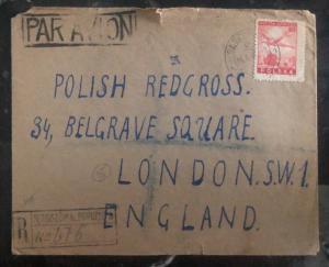 1947 Sedziszow Poland Cover to Polish Red Cross London England