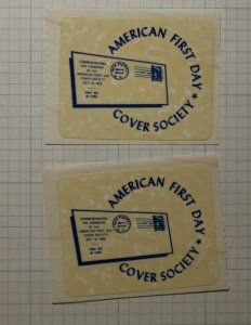 American First Day Cover Society 1956 Philatelic Souvenir Ad Label