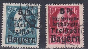 Bavaria # B1 & B3, Used, 1/3 Cat.