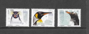 PENGUINS - FRENCH SOUTHERN ANTARCTIC TERRITORIES #594a-6a  MNH