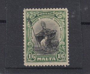 Malta KGV 1926/28 1s 6d Green SG167 MLH JK4784