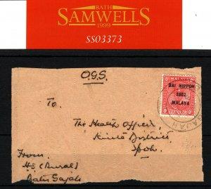 MALAYA Perak*Batu Gajah* MEDICAL WW2 Japanese Occupation 1942 Cover Front SS3373