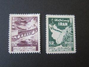 Iran 1958 Sc 1103-4 Train set MNH