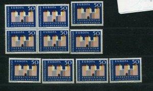 D093742 Europa CEPT 1964 Castles Wholesale 10 Series MNH Liechtenstein