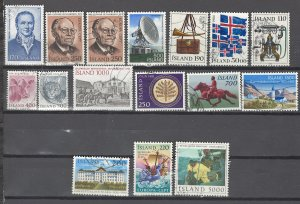 COLLECTION LOT # 2527 ICELAND 16 STAMPS 1979+ CV+$20 CLEARANCE