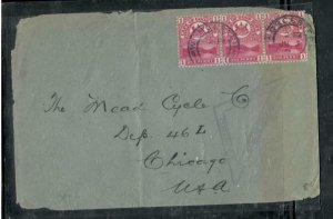 CAPE OF GOOD HOPE COVER (P3006B)  1D STRIP OF 3 CENSOR COVER TO USA
