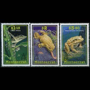MONTSERRAT 1991 - Scott# 780-2 Frogs and Toads Set of 3 NH