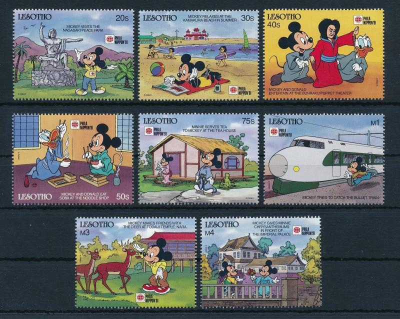 [22309] Lesotho 1991 Disney Characters in Japan MNH