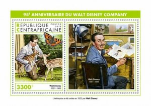HERRICKSTAMP NEW ISSUES CENTRAL AFRICA Walt Disney Company S/S