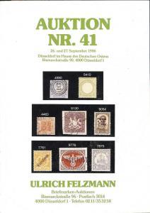 Felzmann: Sale # 41  -  Auktion NR.41, Ulrich Felzmann Sa...