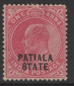 INDIA-PATIALA SG38 1903 1a CARMINE USED