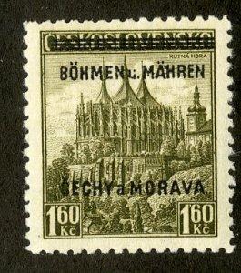 BOHEMIA & MORAVIA 13 MNH BIN $5.00 PLACE