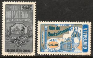 GUATEMALA C626-C627, 150th ANNIV. OF QUETZALTENANGO. MINT, NH (142)