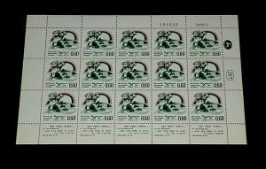 1969, ISRAEL #398,  NOAH'S ARC ISSUE, 0.60, SHEET/15 , MNH, NICE! LQQK!