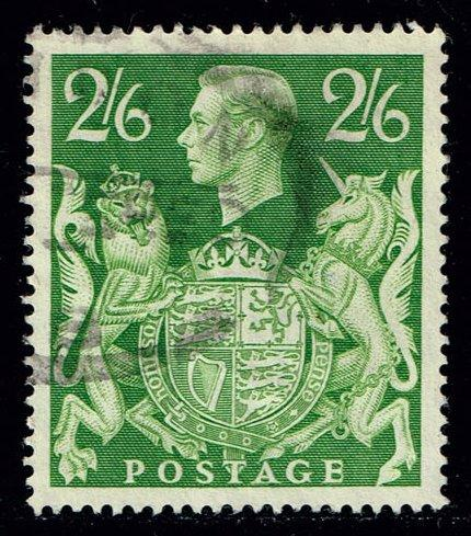 Great Britain #249A George VI and Royal Arms; used (1.75)