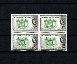BRITISH HONDURAS - 1953 - QE II - ARMS OF THE COLONY - MINT - MNH BLOCK!