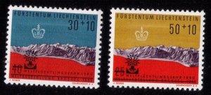 LIECHTENSTEIN (1960)  MNH Scott #B22-B23 Very Fine Set