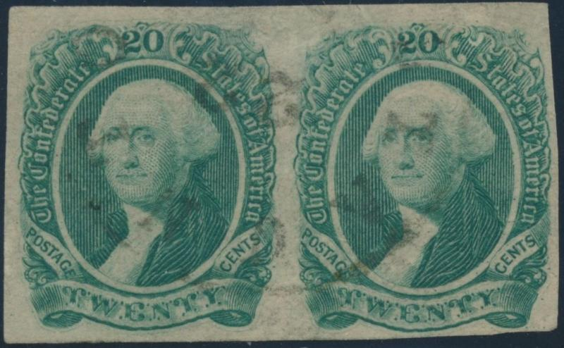 #13 VF USED PAIR SCARCE WITH CSA CERT CV $900.00 HV2340
