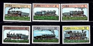 Cuba 2708-13 MNH 1984 Locomotives    (ap2024)