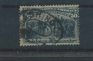United States Scott 240 50-cent Columbian issue used