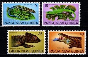 Papua New Guinea 1978 Fauna Conservation (Skinks), Set [Mint]