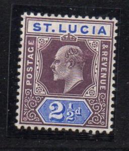 St Lucia Sc 52 1904 2 1/2d Edward VII stamp mint