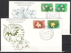 Senegal, Scott cat. 551-554. Local Flowers issue. 2 First day covers.