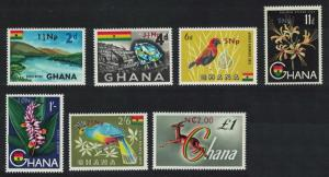 Ghana Birds Orchids Antelope New Currency 7v SG#445=454