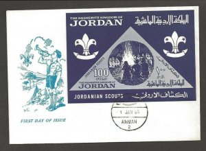 1965 Jordan Boy Scout triangles SS FDC