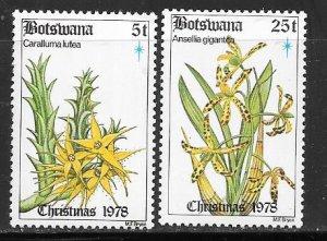 Botswana #221 & 224 Plants  (MMH) CV $1.65