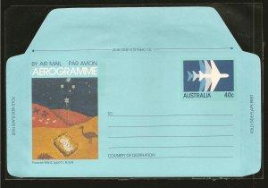 Australia Frances Ward aged 11 NSW Art 40 Cent Aerogramme MNH
