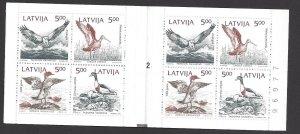 Latvia #335a MNH Bklt. birds of the Baltic shore, issued 1992