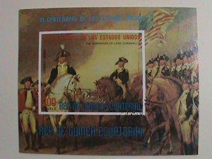 EQUATORIAL GUINEA STAMP: 1976-BI-CENTENARY OF AMERICAN CTO-NH-IMPERF: SHEET NO.2