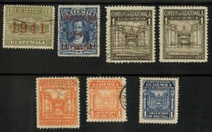 Guatemala RA16-RA23 Used F-VF missing RA17 some with thin...