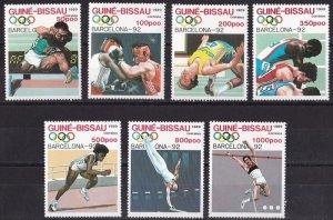 Guinea-Bissau 1989 Summer Olympic Games - Barcelona 92 set MNH**